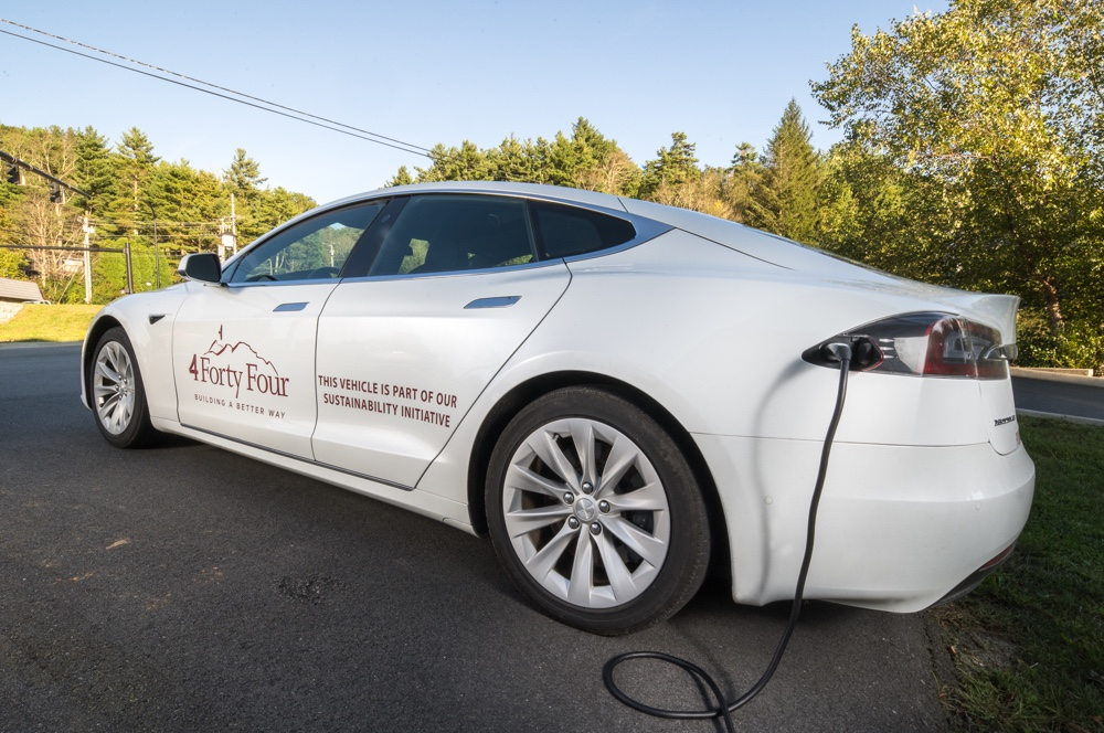 The 4 Forty Four Tesla plugged in.
